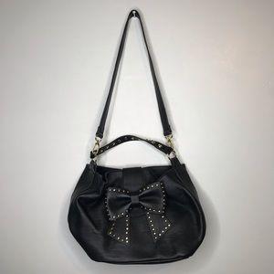 Betsey Johnson Studded Bow Crossbody Handbag